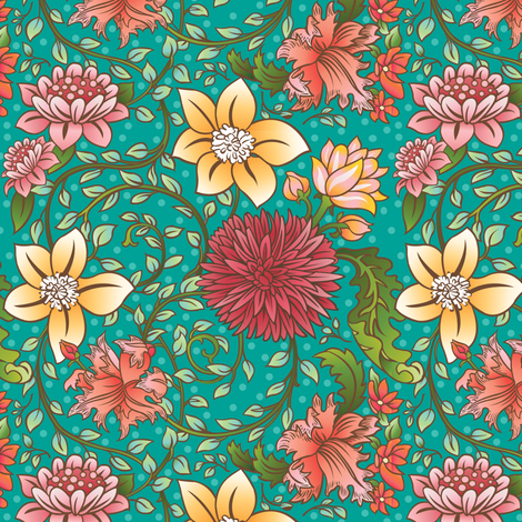 Floral_Swirl fabric by julistyle on Spoonflower - custom fabric