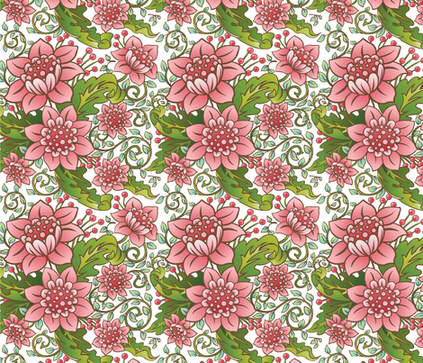 Floral_Swirl_2_square fabric by julistyle on Spoonflower - custom fabric