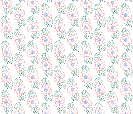 flower_hand_drawn fabric by anino on Spoonflower - custom fabric