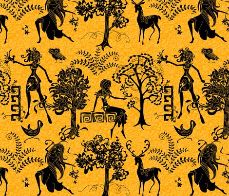 Wood Nymphs fabric by jillianmorris on Spoonflower - custom fabric