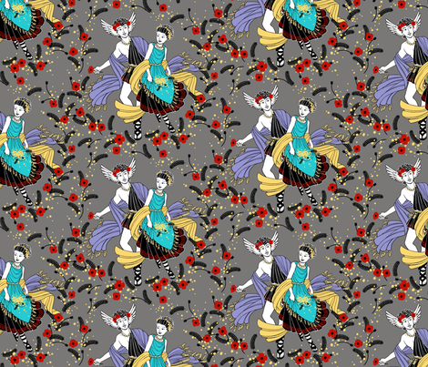 The Wedding of Hypnos and Pasithea fabric by siya on Spoonflower - custom fabric