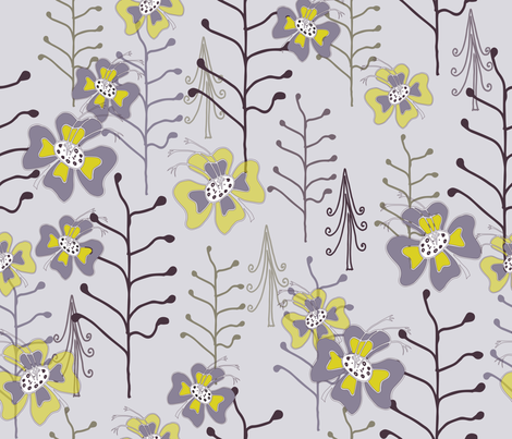 Titania_s_Garden_Lilac-1 fabric by ttpie on Spoonflower - custom fabric