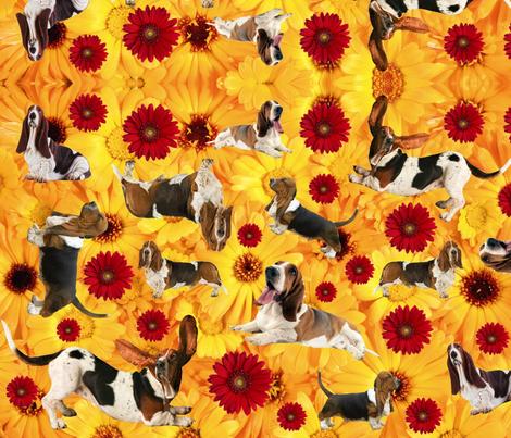 Feminine Bassets 2.0 fabric by tessnorquay on Spoonflower - custom fabric