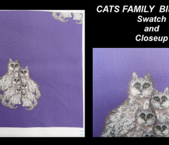 CATS FAMILY BLUE VIOLET
