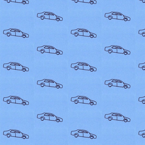 little blue car
