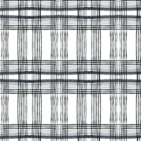 cestlaviv_kitchenplaid gris fabric by cest_la_viv on Spoonflower - custom fabric
