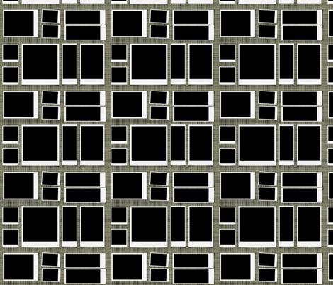 Mod Black blocks fabric by lizartelier on Spoonflower - custom fabric