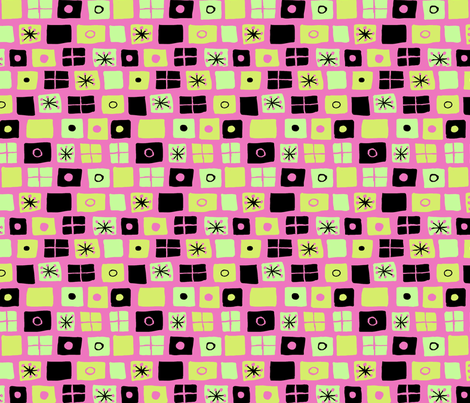 Modern Flags Fuschia and Green Brighter fabric by vinpauld on Spoonflower - custom fabric