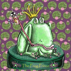 The Frog Prince on a Flower Frog