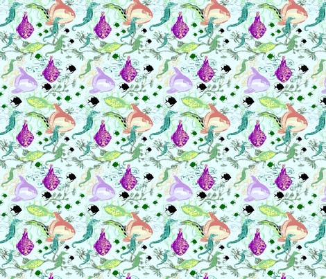 Denizens of the Deep Subdued fabric by vinpauld on Spoonflower - custom fabric
