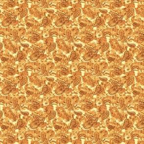 Gold Paisley Print