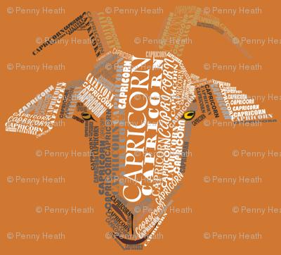 Capricorn the Goat Orange