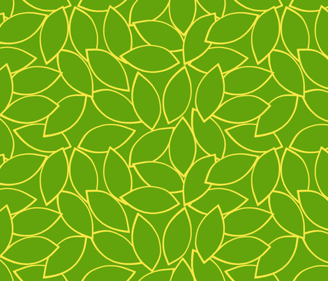 mod_citrus_leaves_lemon fabric by victorialasher on Spoonflower - custom fabric
