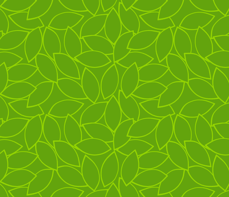 mod_citrus_leaves_lime fabric by victorialasher on Spoonflower - custom fabric