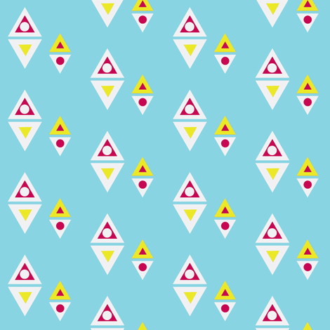 geo fun five fabric by hurryhome on Spoonflower - custom fabric