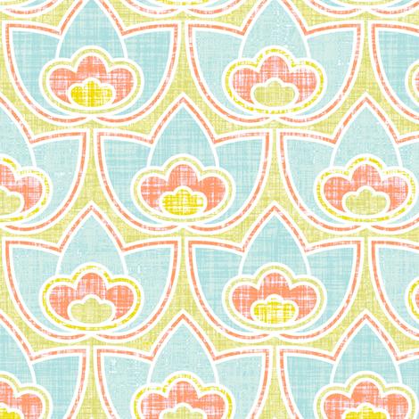 Mod Linen Floral Multi fabric by katrinazerilli on Spoonflower - custom fabric