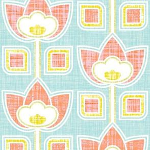Mod Linen Flowers Multi