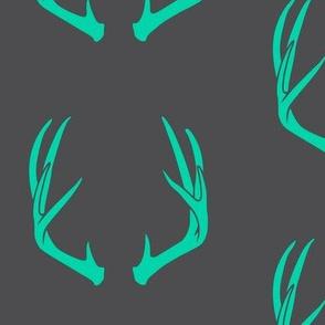 teal antlers