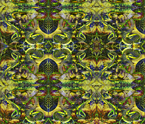 Snakescape fabric by whimzwhirled on Spoonflower - custom fabric