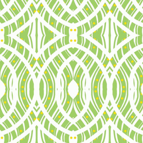 Olive Green Oval Pattern