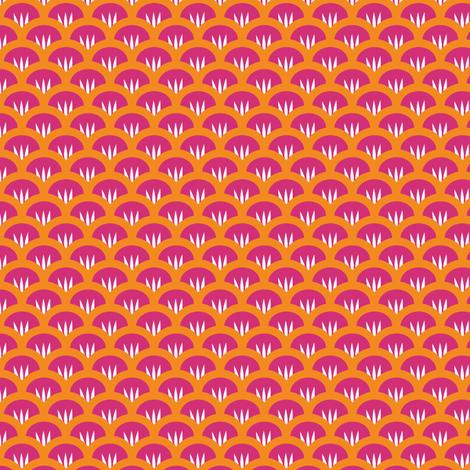 Suzy Woozy pink orange fabric by jillbyers on Spoonflower - custom fabric