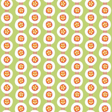 Citrus Buttons green fabric by jillbyers on Spoonflower - custom fabric