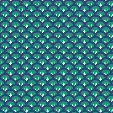 Suzy Woozy emerald & navy fabric by jillbyers on Spoonflower - custom fabric