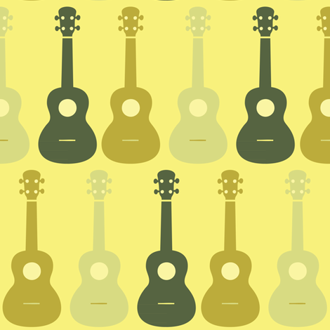 ukulele-7 fabric by owlandchickadee on Spoonflower - custom fabric