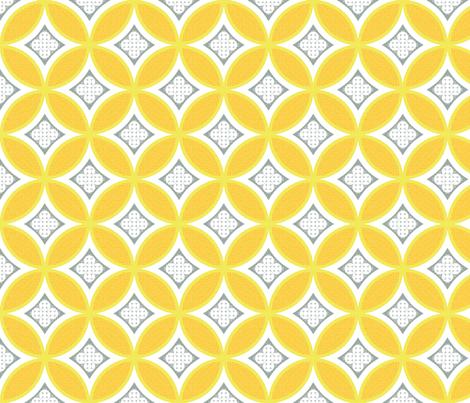 Mexican Mod Tile - turmeric fabric by marcador on Spoonflower - custom fabric