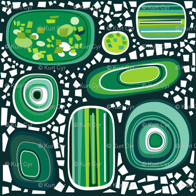 terrazzo - malachite jade