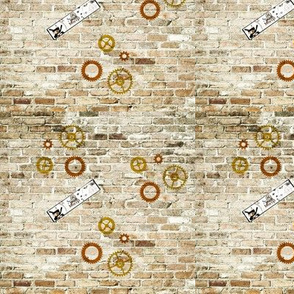 Gears on a wall