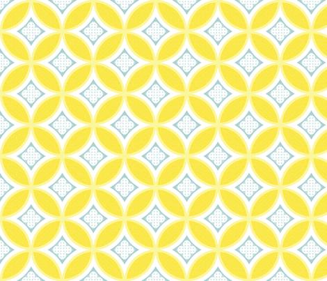 Mexican Mod Tile - daisy + mist fabric by marcador on Spoonflower - custom fabric