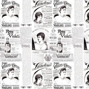 1890's Magazine Ads: black &white