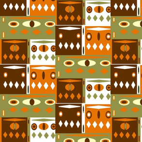 Groovy orange design