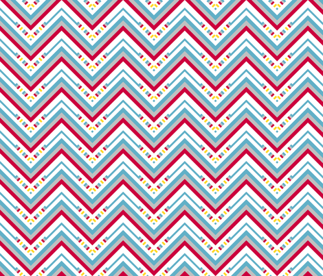 Chevron Striped Stripes! - Sweet Birds of Summer - Summer Party - © PinkSodaPop 4ComputerHeaven.com fabric by pinksodapop on Spoonflower - custom fabric