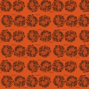 frog soccer on orange