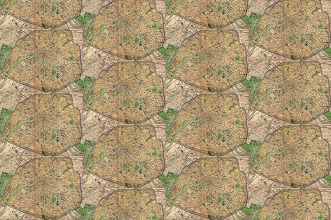 map fabric by 86things on Spoonflower - custom fabric