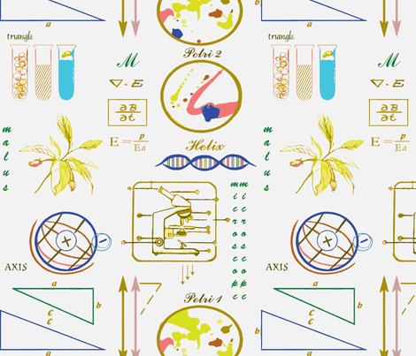 labgeek fabric by tailofthedog on Spoonflower - custom fabric
