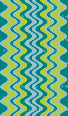 wave pattern teal
