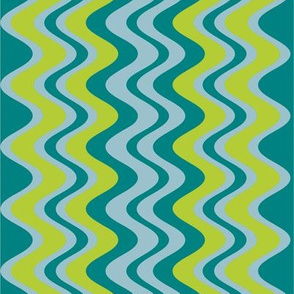 wave pattern teal