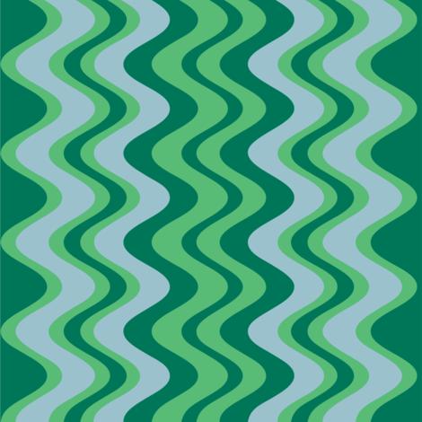 wave pattern emerald fabric by alainasdesigns on Spoonflower - custom fabric