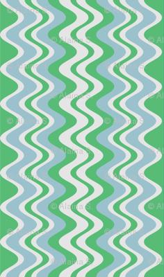 wave pattern mint