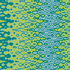 Bubbles Blue-Lime Print