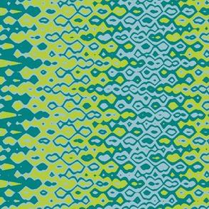Bubbles Blue-Lime Print