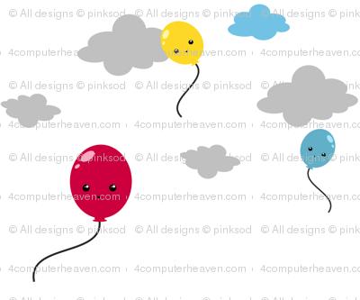 Sky High Balloons! - Sweet Birds of Summer - Summer Party - © PinkSodaPop 4ComputerHeaven.com