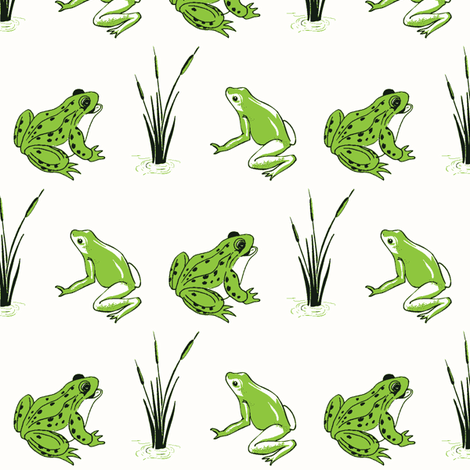 FrogsSpringGreen fabric by rmurdock on Spoonflower - custom fabric