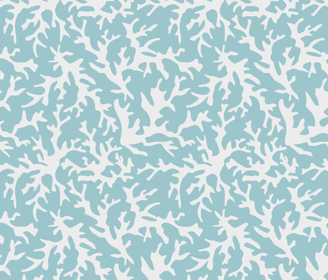 Light Blue Coral Reef fabric by alainasdesigns on Spoonflower - custom fabric