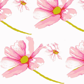 Pink and Pink Daisies