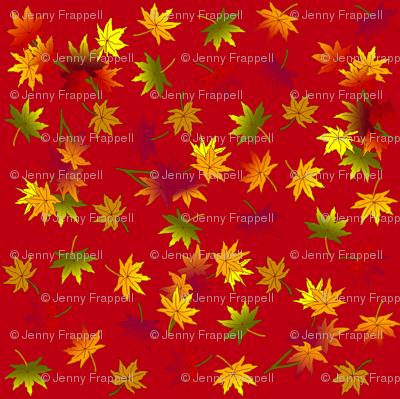 Autumn Leaves in Rust Red ©indigodaze2013