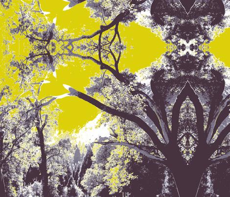 Midsummer Yosemite forest fabric by emilyrandall on Spoonflower - custom fabric
